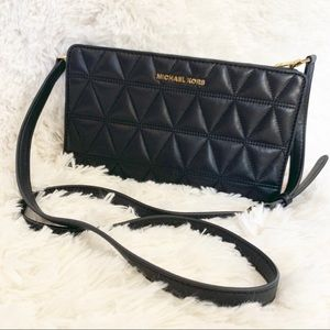 Michael Kors Large Crossbody Clutch Leather Bag